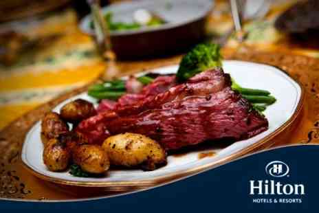 Hilton Newbury Centre Hotel - Sunday Carvery Three Course Lunch For Two With Drinks - Save 52%