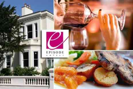 Episode Hotel and Restaurant - Tutored Wine Tasting and Two Course Meal For Two - Save 50%