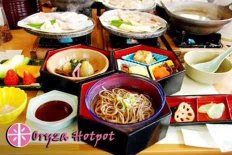 Oryza Hotpot - Asian Hotpot For Two With Green Tea Each - Save 56%