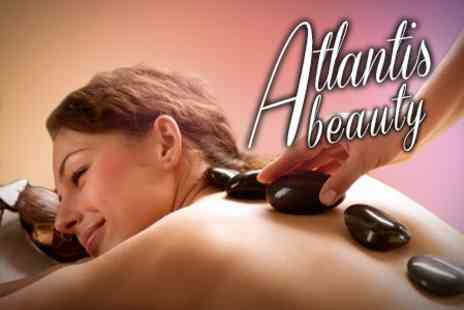 Atlantis Beauty Salon - Hot Stone Massage or Back, Neck and Shoulder Massage - Save 50%