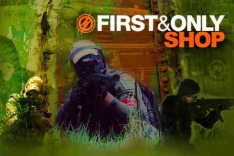First and Only Airsoft - Outdoor War Game Experience With Lunch - Save 62%