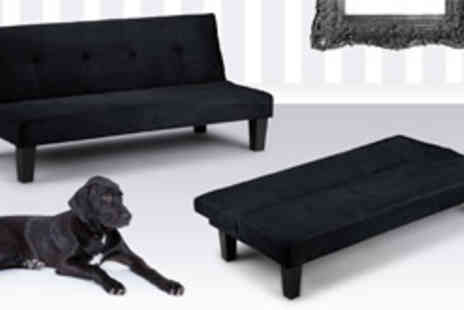World Stores - Lucus faux suede sofa bed in black - Save 63%