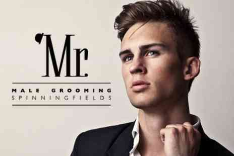 Mr Male Grooming - Combine Two Treatments From Restyle Cut, Massage and Cut Throat Shave - Save 51%