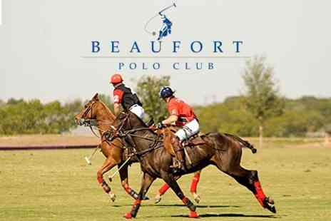 Beaufort Polo Club - International Polo Match Entry For Up to Four People to England v South Africa For Up to Four - Save 36%