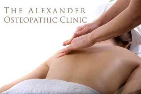 The Alexander Osteopathic Clinic - Full Body Massage and Assessment - Save 58%