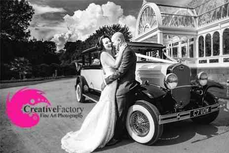 Creative Factory - Wedding Photography Package With A4 Print, DVD of Images and Invitation Design - Save 71%