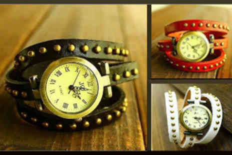 ChainzJewellery.com - Ladies Vintage Style Leather Watch Bracelet - Save 83%
