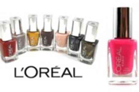 Blissful Beauty - Your choice of 3 vibrant L'Oreal professional nail polishes - Save 62%