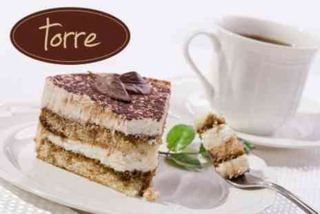 Torre - Cake and Hot Drink For One - Save 52%