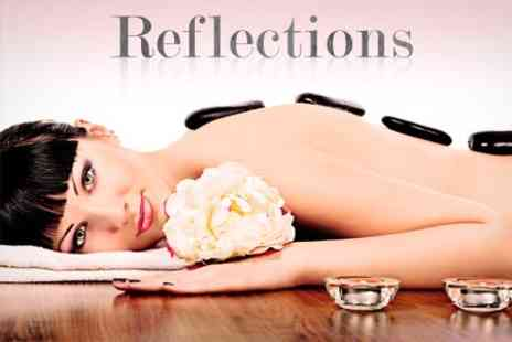 Reflections - 75 Minute Pamper Hot Stone Massage Plus Facial - Save 59%