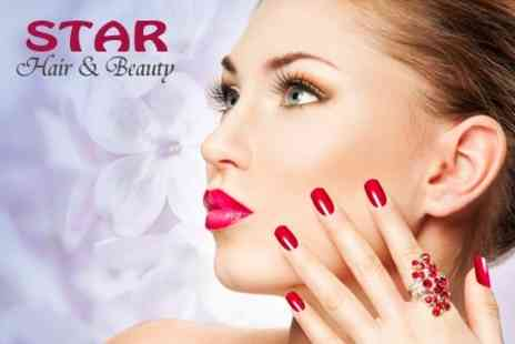 Star Beauty - Shellac Manicure or Pedicure - Save 50%