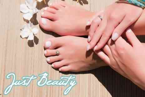 Just Beauty - Manicure and Pedicure - Save 64%