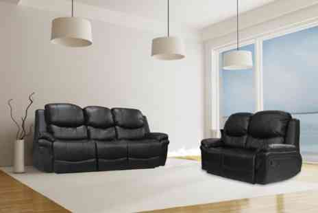 Online Sofa Wholesale - Two Piece Leather Reclining Sofa Set in Choice - Save 54%