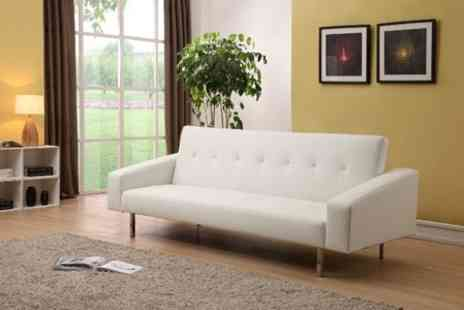 GRS Global - Washington Faux Leather Sofa Bed - Save 68%