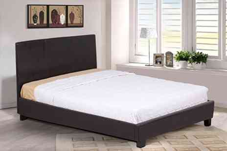 Sleep Softly - Single, Double, or King Bedframe and Mattress Set - Save 66%