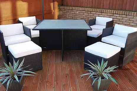 London Rattan - Luxury nine piece Chelsea rattan garden furniture set - Save 62%