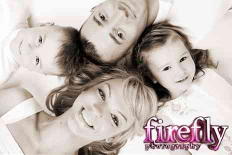 Firefly Photography - Family, Couple or Individual Makeover Photoshoot and Three Prints - Save 91%