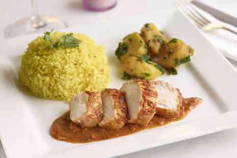 Royal Saffron - Three course Indian meal for 2 inc. starters, mains, ice cream & coffee each - Save 71%