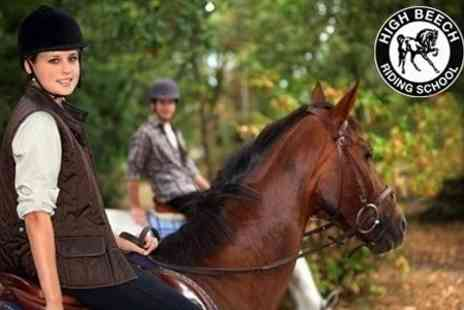High Beech Riding School - Two Hour Lesson and Hack For One - Save 58%