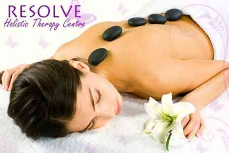Resolve Holistic Therapy Centre - Hot Stone Back Massage Plus Facial - Save 50%