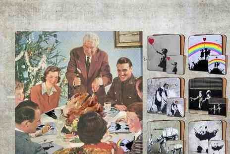 Canvas Town - Banksy Art Mats & Coasters - Save 50%