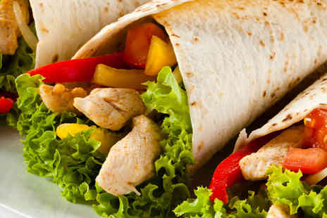 Burrito Cafe -Two large burritos and 2 bottles of Sol beer - Save 50%