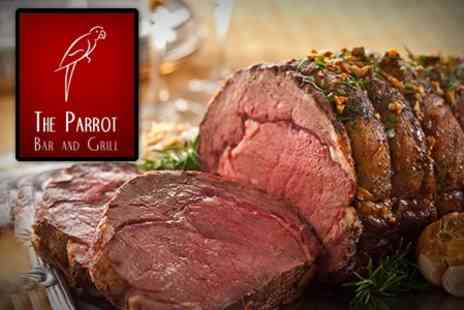 The Parrot Bar and Grill - Sunday Lunch For Two With Wine or Champagne Cocktail - Save 63%