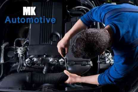 MK Automotive - MOT Test With 54 Point Service, Oil and Filter Change, Plus Wash - Save 71%