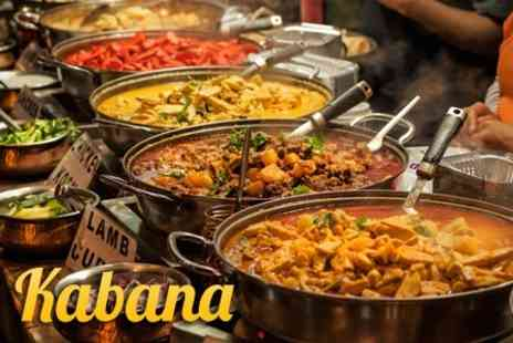 Kabana Restaurant - All You Can Eat Indian, Chinese and Lebanese Meal For Two - Save 50%