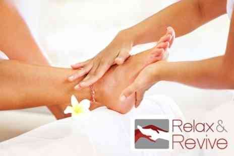 Relax & Revive - Reflexology One  or Three  Sessions - Save 60%