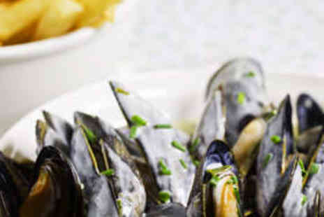 Hidden Treasure - 1kg of Mussels with Salad or Chips for Two People - Save 63%