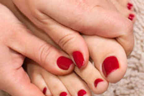 Scratch Nails - Express Pedicure and Gel Toes - Save 64%