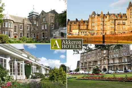 Akkeron Hotels - 2 night getaway for two at a choice of four UK hotels  - Save 50%