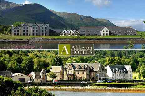 Akkeron Hotels - 2 night Scottish Highlands getaway for two - Save 50%