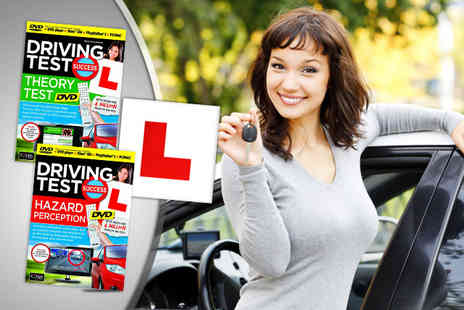 xbite - Driving theory test and hazard perception DVDs plus L plates - Save 43%