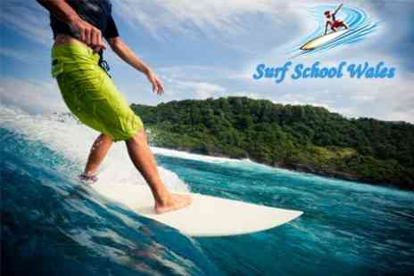 Surf School Wales - 90 Minute Surfing Lesson For One - Save 52%