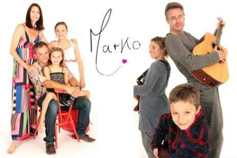Studio Marko - Family Photoshoot With Four 7 x 5 Prints and DVD of Images - Save 96%