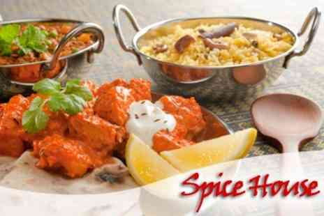 Spice House - Two Course Indian Meal For Two With Glass of Wine Each - Save 58%