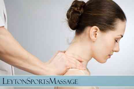 Leyton Sports Massage - 60 Minute Sports and Remedial Massage With Consultation - Save 62%