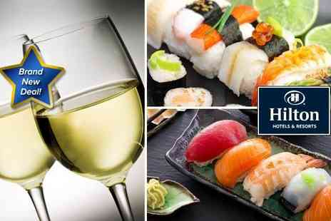 Takara Sushi - Luxurious sushi platter for two with a bottle of wine  - Save 62%