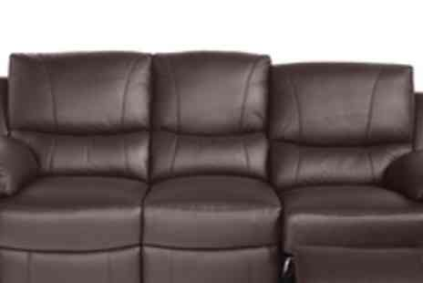 Cool Furniture - 3 Seat and 2 Seat Reclining Lleather Sofa - Save 61%