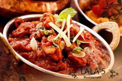 LaLas Restaurant - Indian Fare Two Courses With Wine For Two - Save 53%