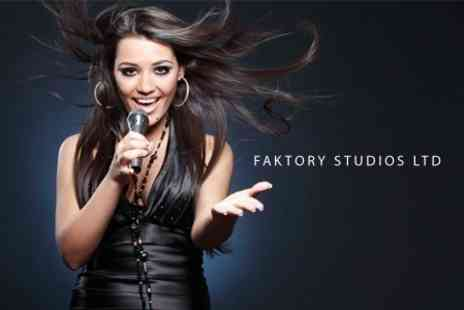 Faktory Studios - Recording Studio Session For Up to Two With Take Home CD - Save 76%