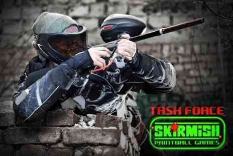 Taskforce Paintball - Paintballing For Five With 100 Paintballs Each - Save 86%