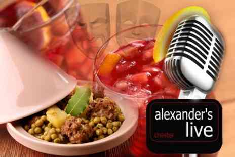 Alexanders Live - Saturday Night Comedy With Moroccan Tagine and Sangria For Two - Save 59%