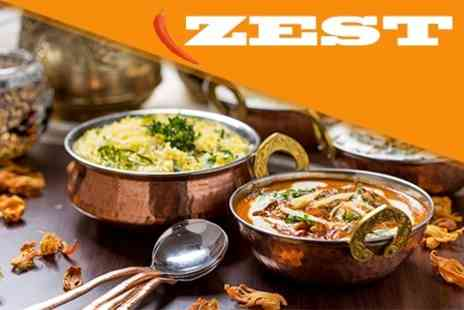 Zest Indian - Two Course Set Indian Meal For Two - Save 58%