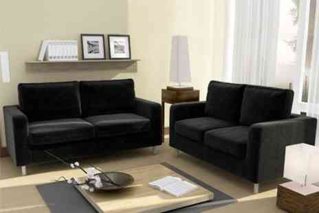 Smart Line Furniture - London Two and Three Seater Sofa Suite - Save 65%