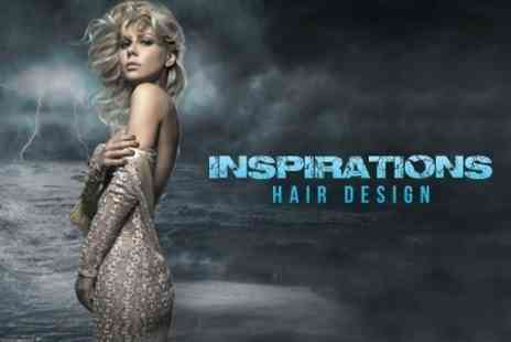 Inspirations Hair Design - Half Head Highlights or Full Head Colour Plus Cut and Conditioning Treatment - Save 60%