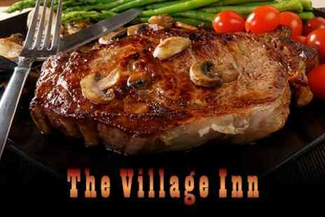 The Village Inn - Two Course Pub Meal With Wine For Two - Save 61%