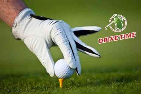 Drive Time - Driving Range Session with Club Hire and Access to Putting Green, Chipping Area and Bunkers - Save 69%
